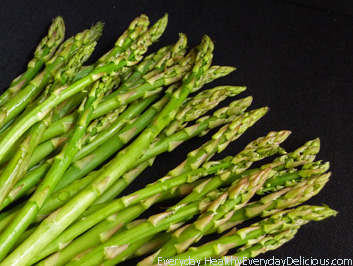 Roasted Asparagus Risotto with Peas & Spinach