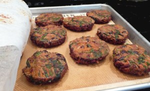 Veggie Patties w/ Quinoa, Black Beans & Lots of Veggies