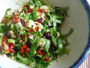 Roasted Cauliflower Salad w Mediterranean Flair
