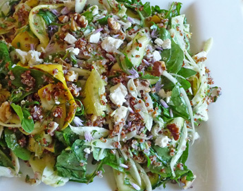 Squash Ribbons and Fennel Salad with Red Quinoa