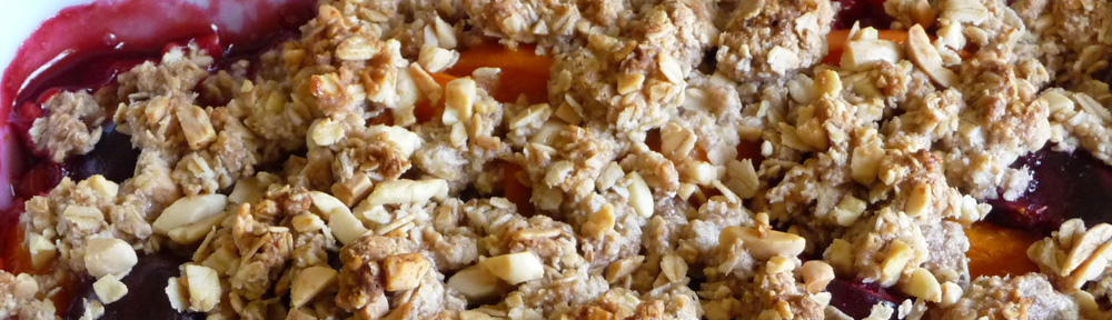 Apricot Cherry Almond Crumble