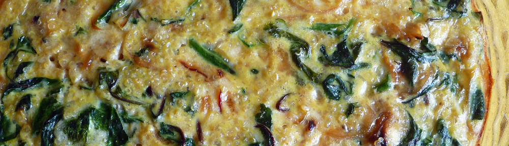 Crustless Quinoa Quiche with Greens