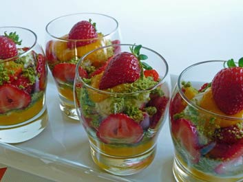 Strawberry Mango Verrine with Coconut Cream