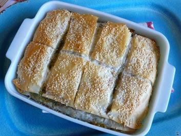Phyllo Pie with Chard, Fresh Herbs, Feta