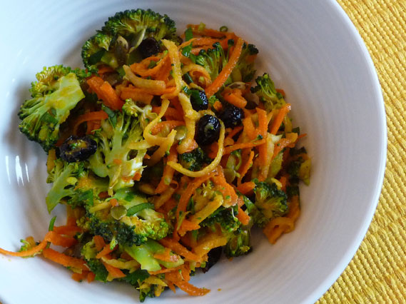 Broccoli Slaw Salad with Carrot Ginger Dressing