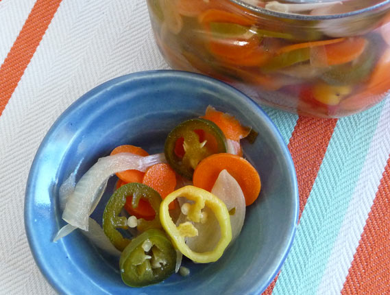 escabeche lacto fermented pickled chili peppers