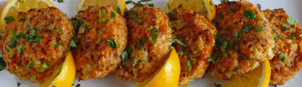 Salmon Cakes with Quinoa & Vegetables – Baked Not Fried