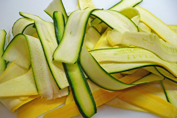 Summer Squash Ribbons with Pesto – Dinner in 15 Minutes