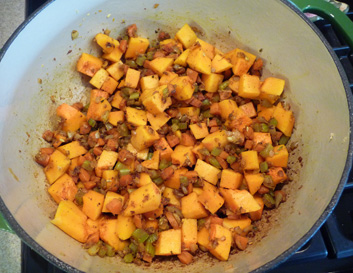 Curried Winter Squash Red Lentil Soup