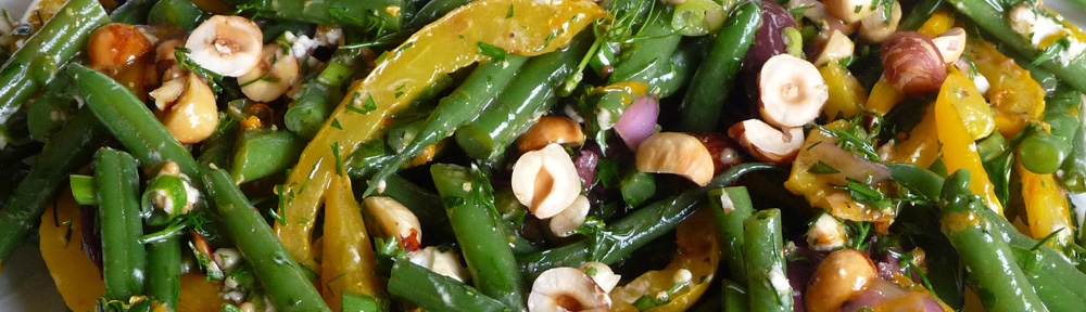 Mediterranean Green Bean Salad – Clean, Crisp, Fresh, Herbal and Bright