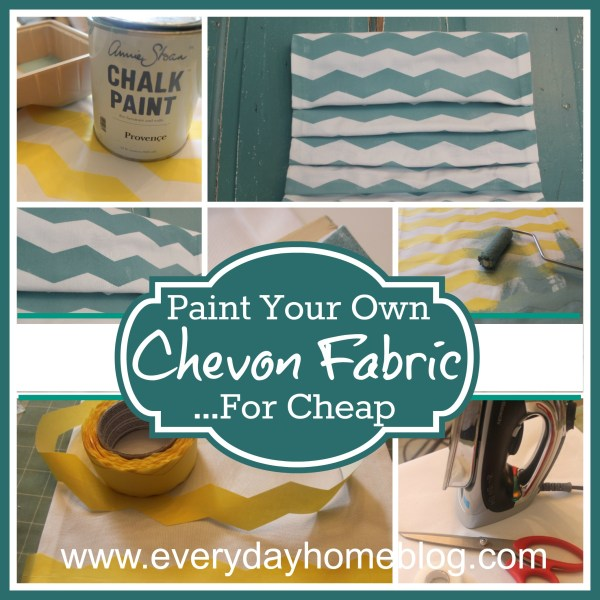 Paint Your Own Chevron Fabric at The Everyday Home