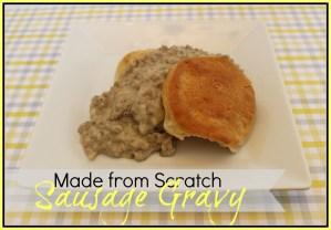 "Sausage Gravy Recipe {it ain't ""purty""}"