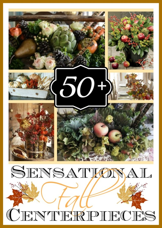 50 + Fabulous Fall Centerpieces and Arrangements | The Everyday Home | www.everydayhomeblog.com