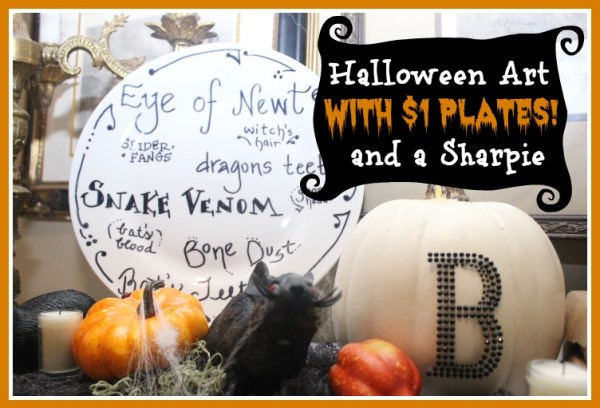 Make Your Own Halloween Plates by The Everyday Home
