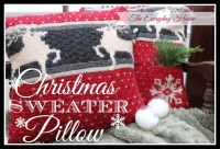 Christmas Sweater Pillows - The Everyday Home