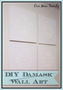 DIY Damask Wall Art