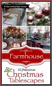 Farmhouse Christmas Tablescapes
