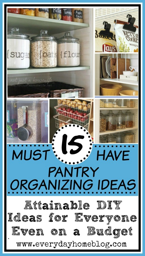 15 Must Have Pantry Organizing Ideas | The Everyday Home | www.everydayhomeblog.com