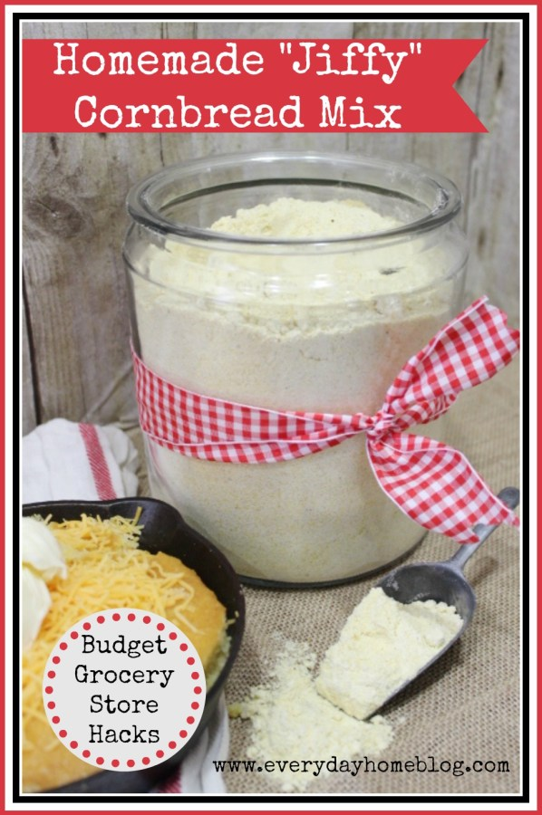 Homemade Cornbread Mix by The Everyday Home #recipe #homemade #kitchenhack #budget