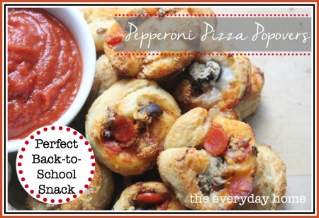 Pepperoni Pizza Popovers by The Everyday Home / www.everydayhomeblog.com
