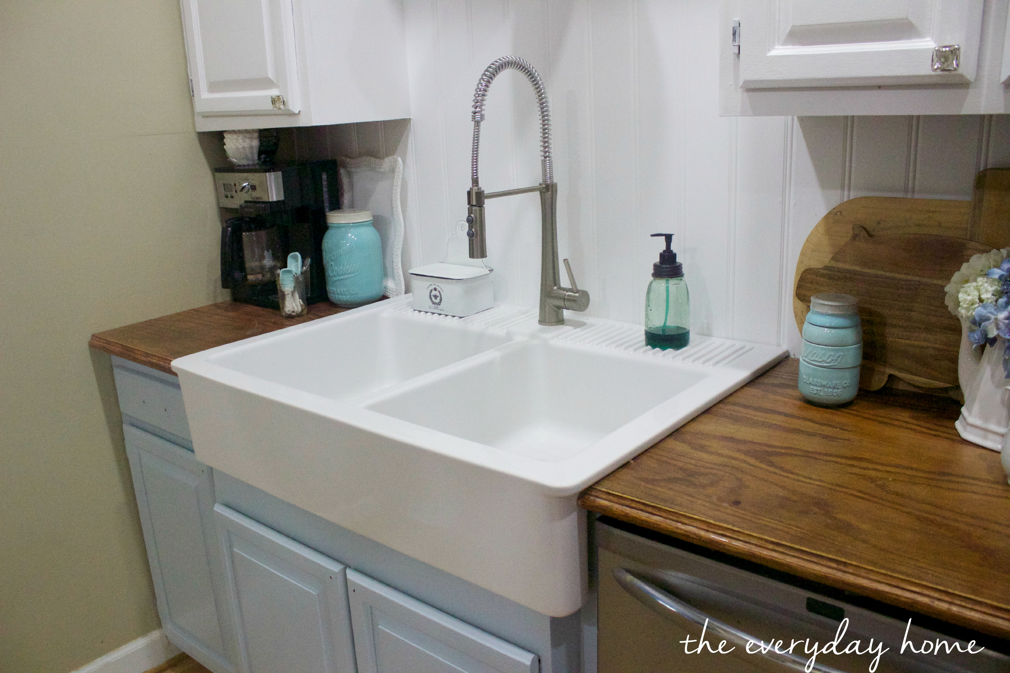drop in farmhouse kitchen sinks roman shades ikea sink the everyday home