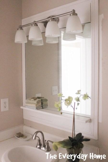 Pottery Barn-Inspired Bathroom Mirror Makeover | The Everyday Home | www.everydayhomeblog.com