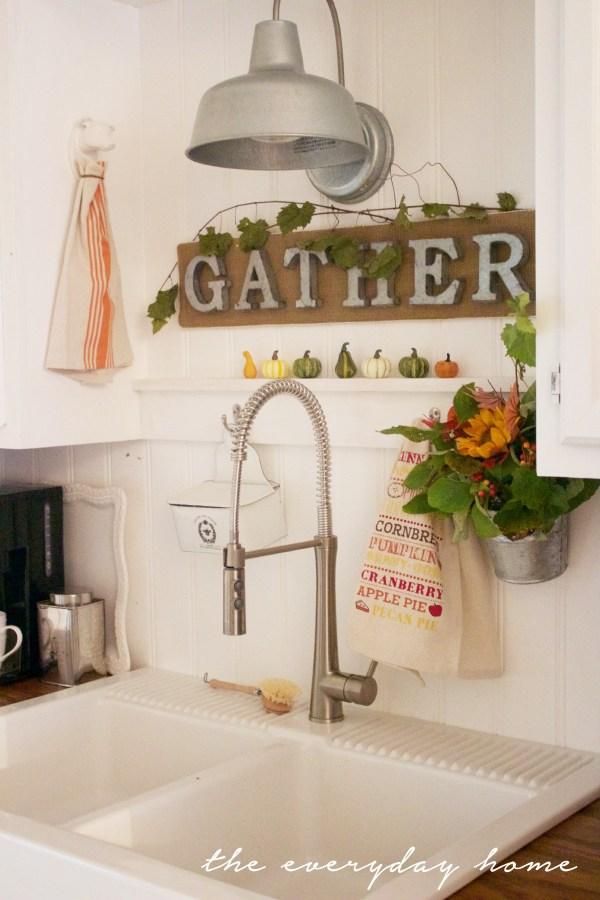 Gather Sign | A Fall Tour | The Everyday Home | www.everydayhomeblog.com