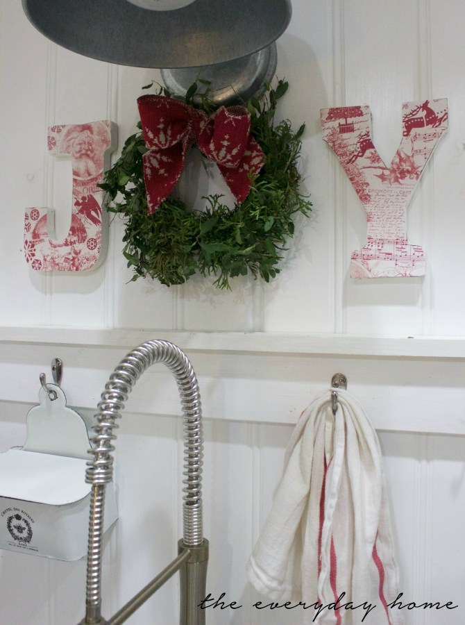 Easy DIY Paper Covered Letters | The Everyday Home | www.everydayhomeblog.com