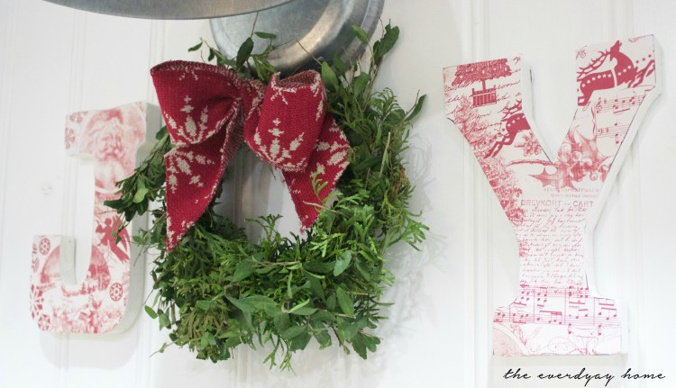 Easy Paper-Covered Wood Letters | The Everyday Home | www.everydayhomeblog.com