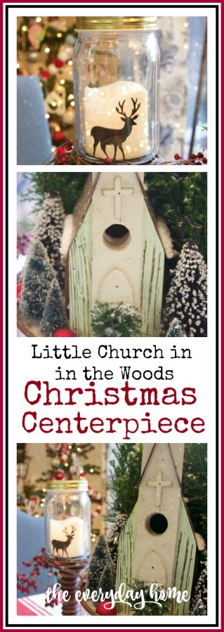 Little Christmas Church in the Woods | The Everyday Home | www.everydayhomeblog.com