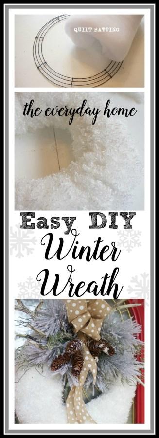 Easy DIY Winter Snow Wreath | The Everyday Home Blog | www.everydayhomeblog.com