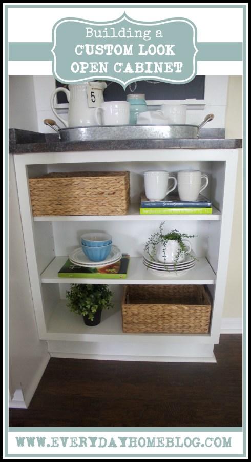 Custom Look Open Cabinet | The Everyday Home Blog | www.everydayhomeblog.com