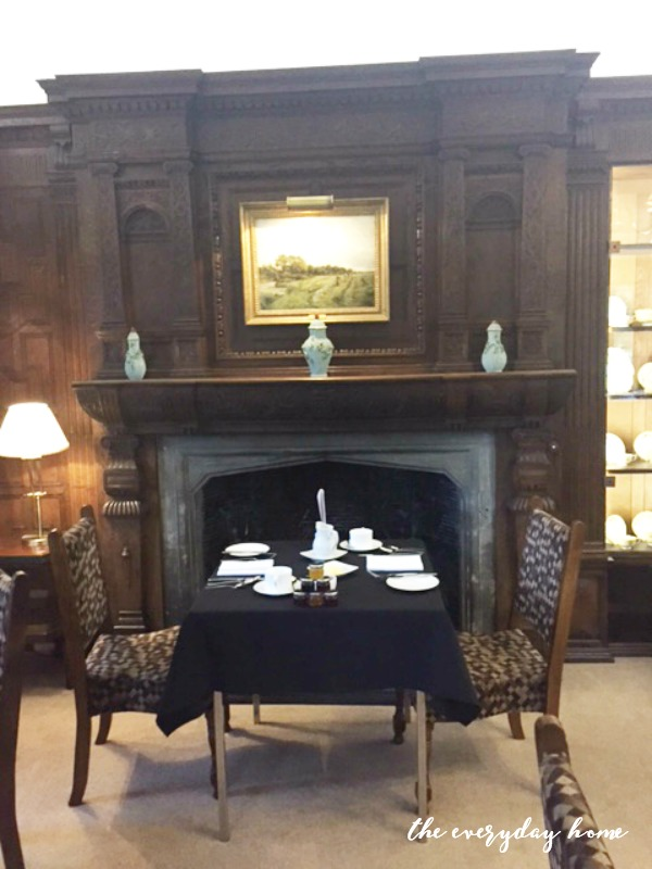 Hever Castle Inn | Breakfast Room Fireplace | The Everyday Home