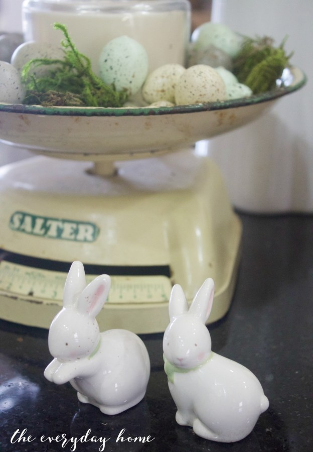 Spring Kitchen Tour   Bunnies & Vintage Scale   The Everyday Home