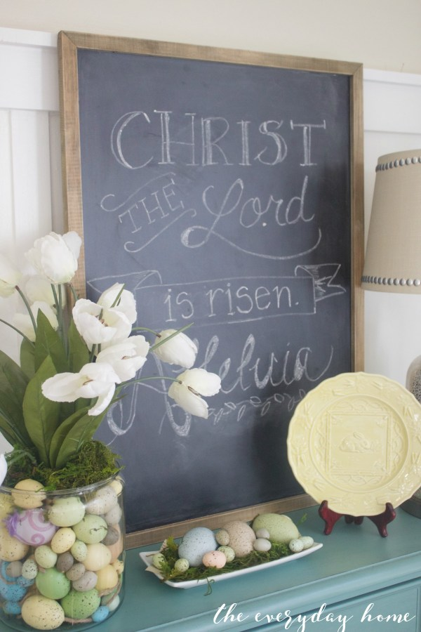 Spring Kitchen Tour   Easter Chalkboard   The Everyday Home