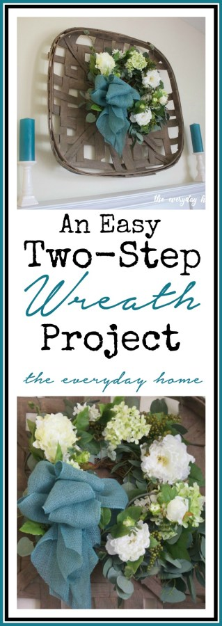 Two-Step Wreath Project | The Everyday Home | www.everydayhomeblog.com