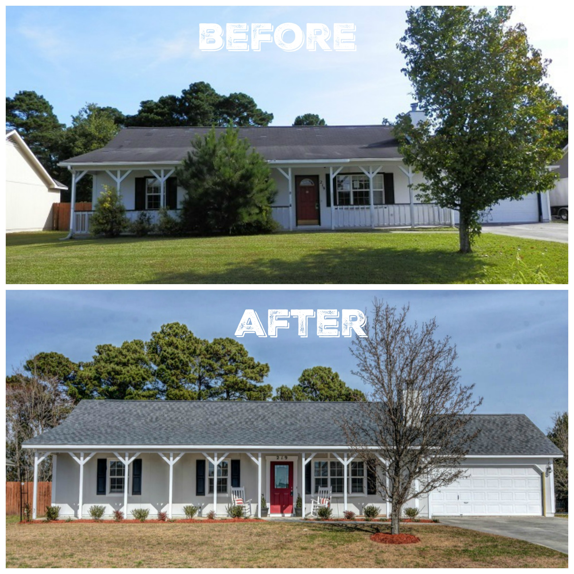 Fixer Upper Before and After Home Exteriors