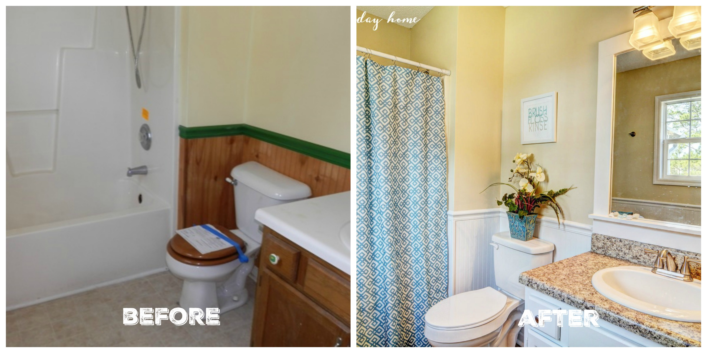 Before & After Master Bath | Flip House Reveal | The Everyday Home