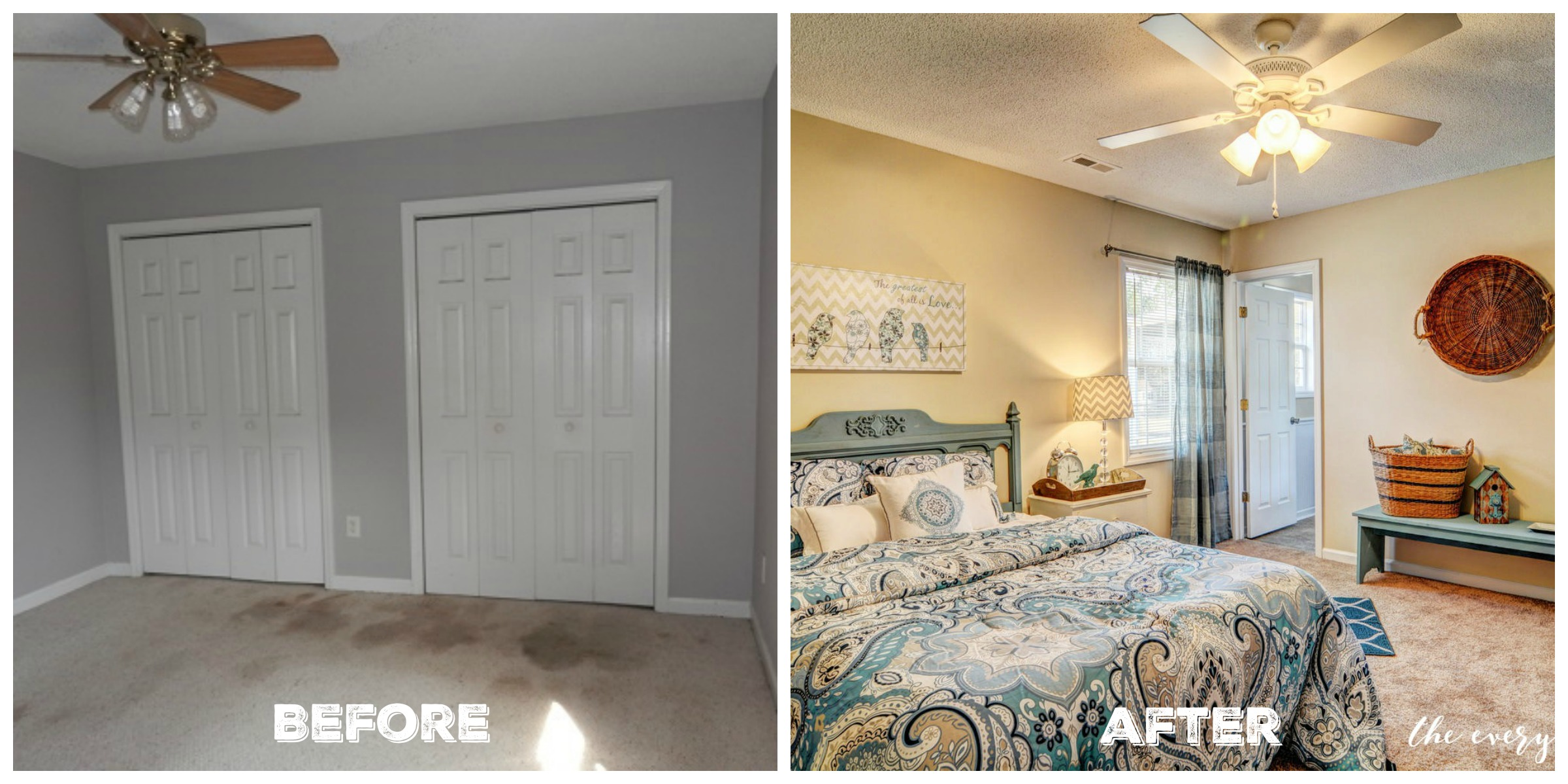 Before & After Master Bedroom | Flip House Reveal | The Everyday Home