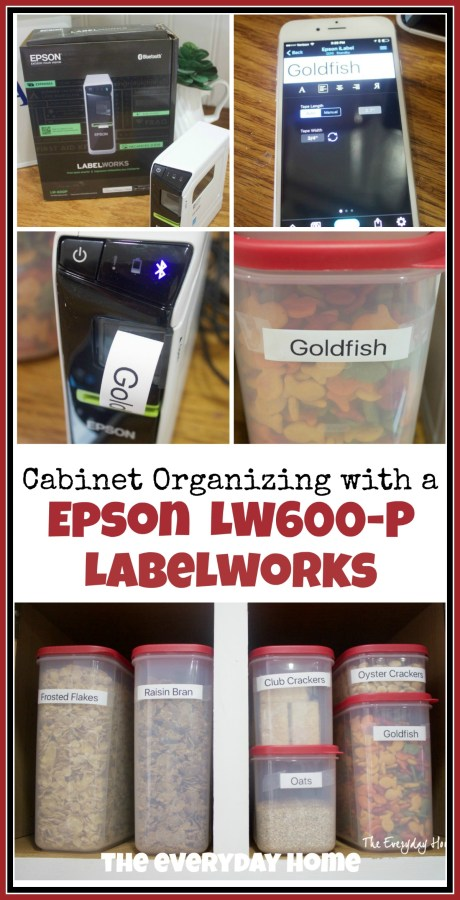Cabinet Organzing with an Epson Label Maker   The Everyday Home