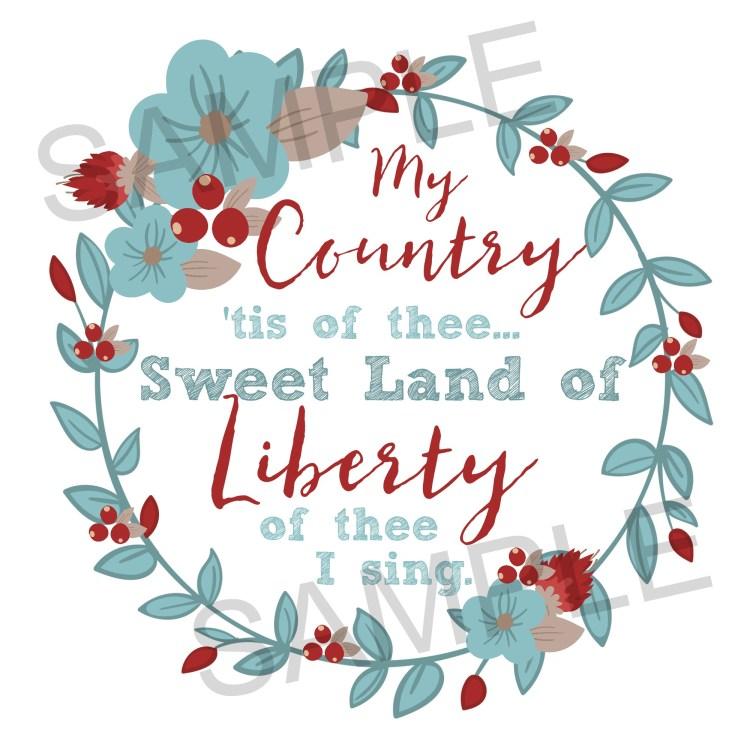 My Country Printable sample
