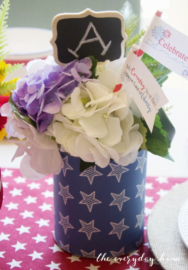 Blue Stars Patriotic Can | The Everyday Home