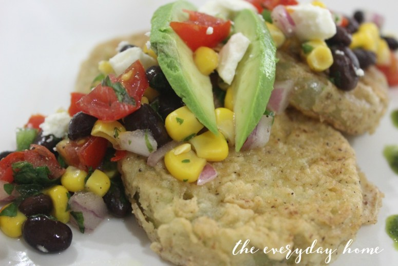 Fried Green Tomatoes with Garden Salsa | The Everyday Home | www.everydayhomeblog.com