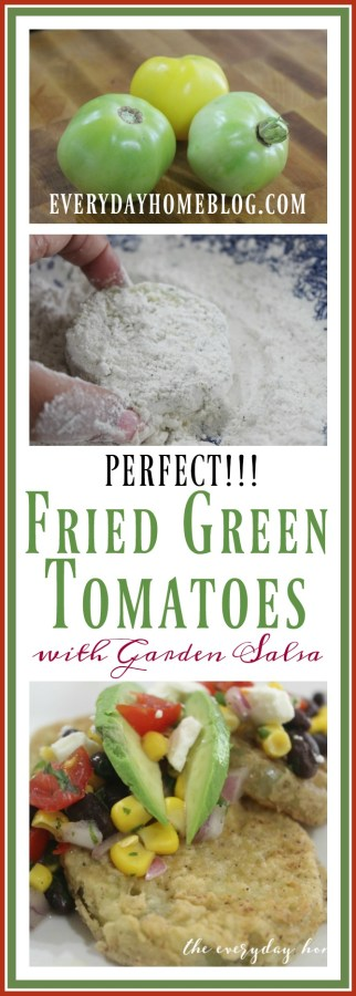 Perfect Fried Green Tomatoes with Garden Salsa and Feta | The Everyday Home | www.everydayhomeblog.com