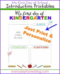 First Day of School Printables - The Everyday Home
