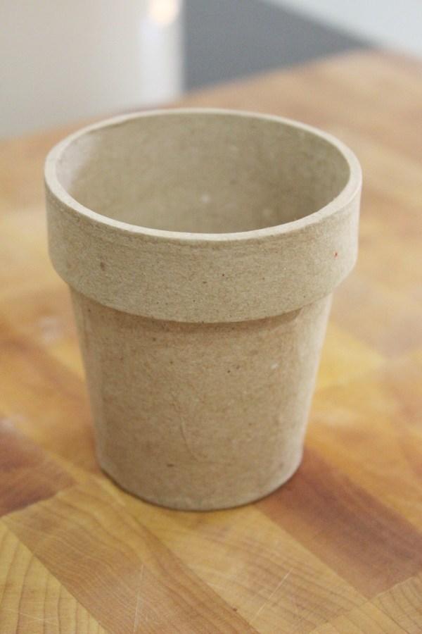 Paper Mache Pot   The Everyday Home   www.everydayhomeblog.com