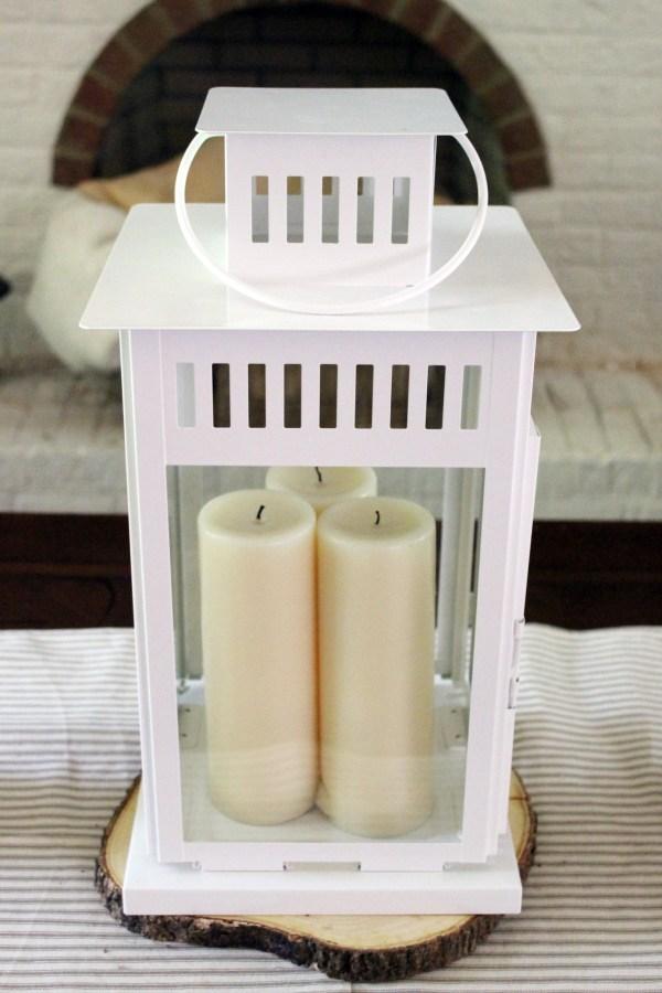 Plain-White-Ikea-Lantern   The Everyday Home   www.everydayhomeblog.com