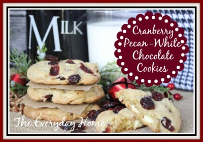 Cranberry Pecan White Chocolate Cookies