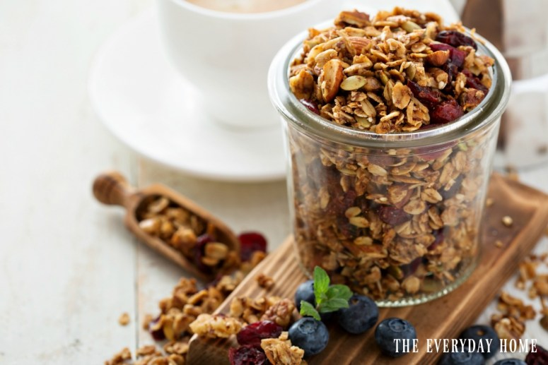 homemade-granola-cranberries-nuts | The Everyday Home | www.everydayhomeblog.com