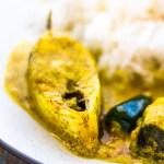 Shorshe Bhapa Ilish | Steamed Hilsa in Mustard Sauce
